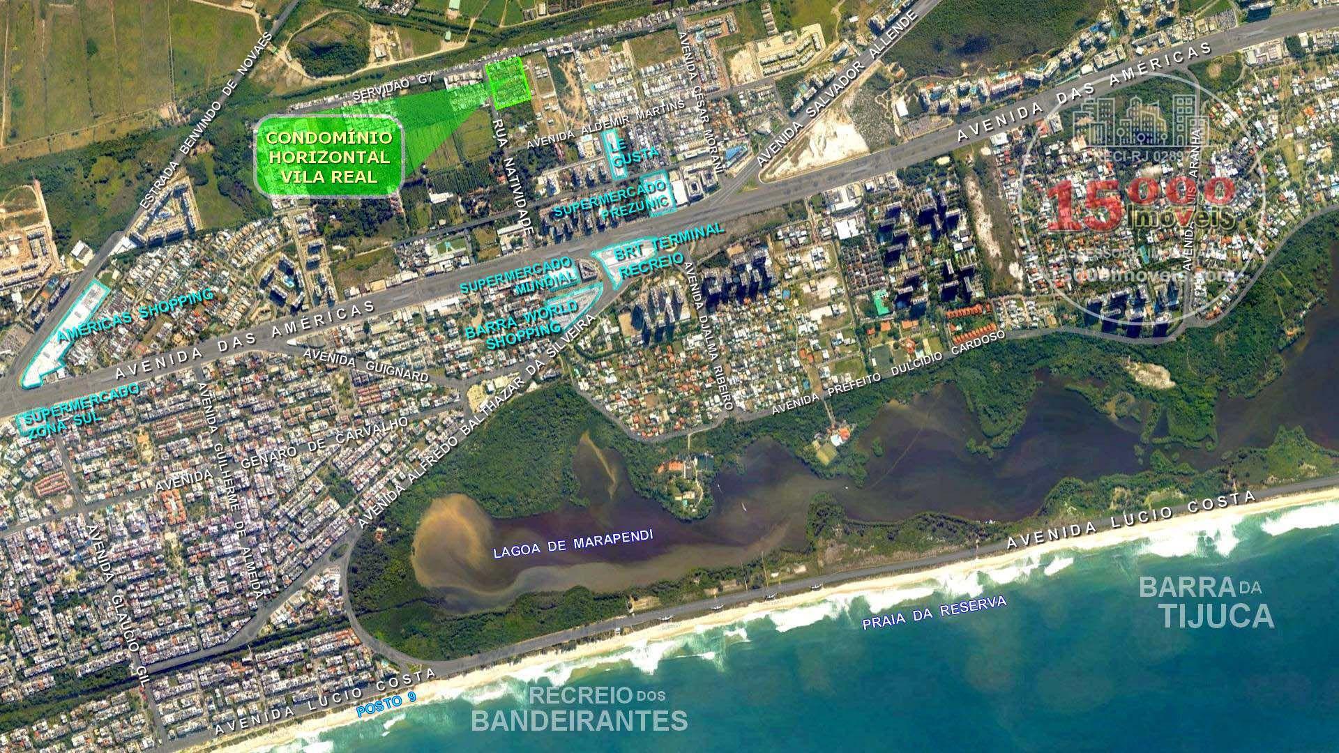 Foto aérea - Condomínio Horizontal Vila Real - Casa tipo sobrado 2 suítes no Cond. Vila Real - Recreio dos Bandeirantes (15000-112) - 15000-112 - 20